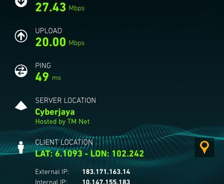 4G LTE Celcom di KB