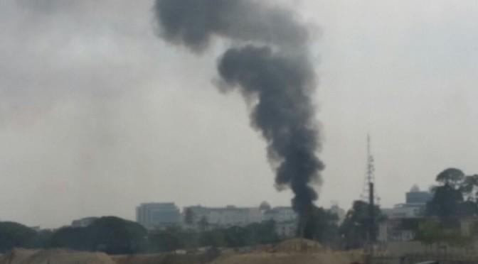 Kebakaran di Tepi Sungai Kelantan